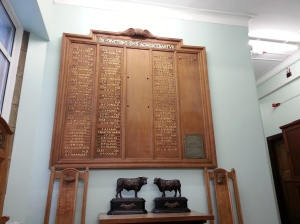 Old Genetics plaque and memorabilia now in Ashworth