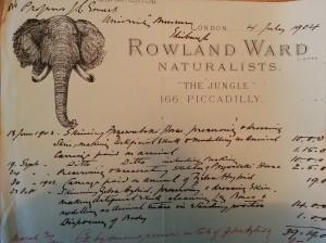 Coll14.9.10.71 Rowland Ward bill