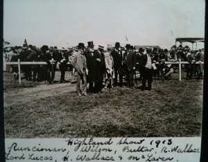 Professor Wallace Highland Show 1913